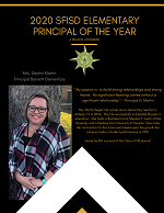 SFISD 2020 Elementary Principal of the Year