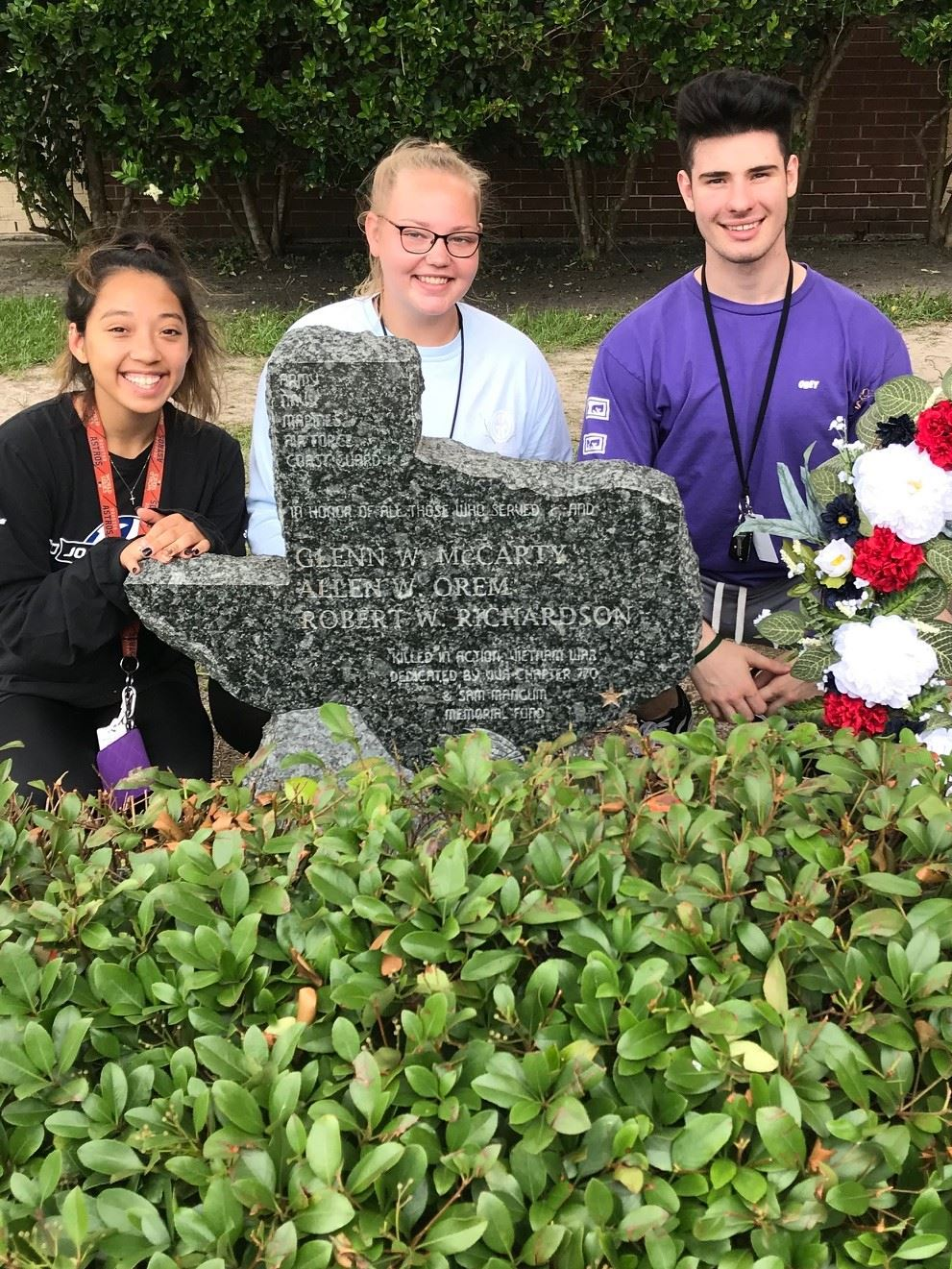 Memorial Wreath created by SFHS Floral Design Students
