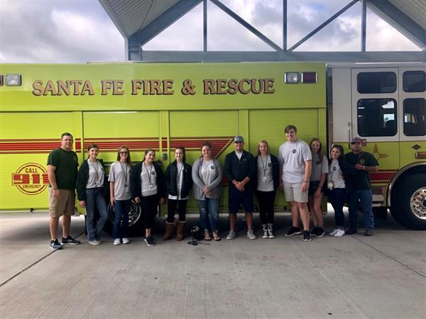 SFHS Fire and Safety Club visits Arcadia First Baptist Church students