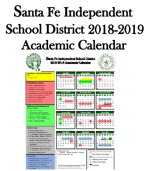 SFISD District Calendar Graphic