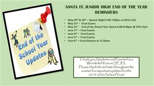 SFJH End of Year Reminders