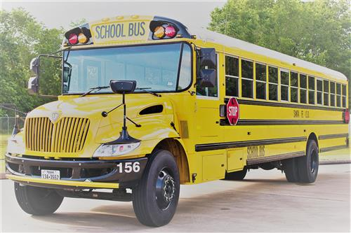 School Bus. Santa Fe ISD encompasses 72 square miles of the western portion  of Galveston County approximately 30 miles south of Houston on State  Highway 6.
