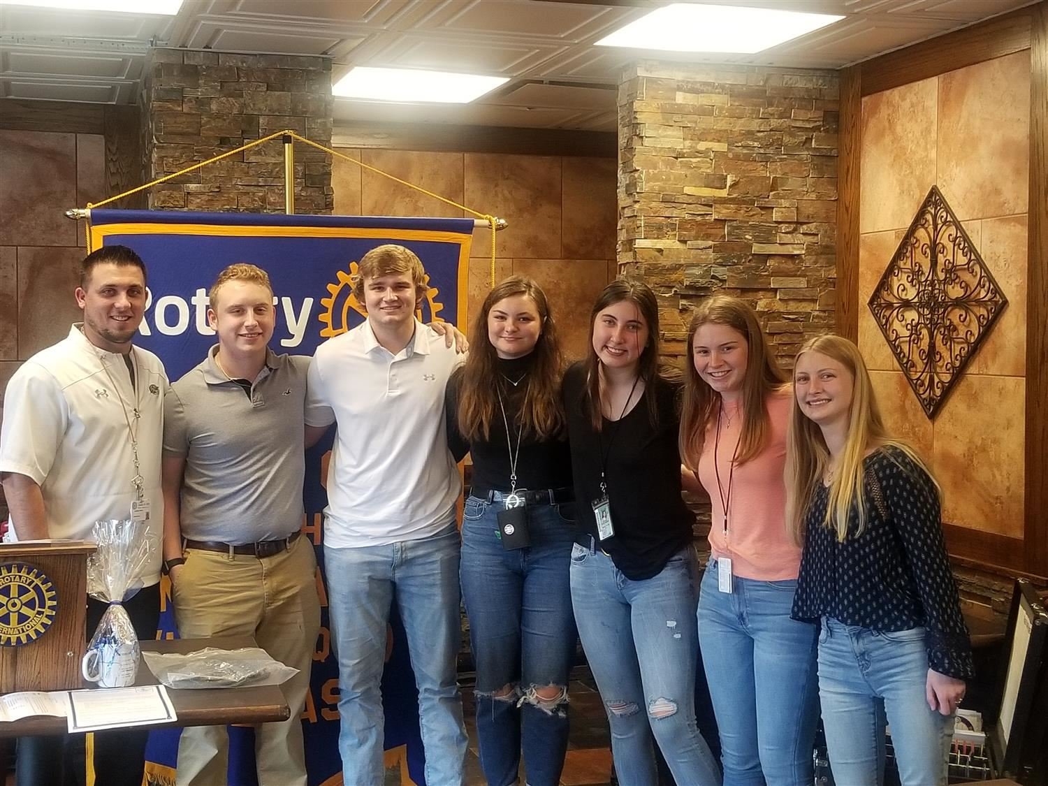Santa Fe High School Fire Safety Club Presents to Rotary Club of the Mainland