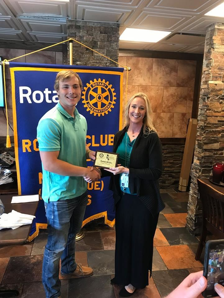 Congratulations to Kaleb Wisko, Santa Fe High School Rotary Student of the Month for April, 2019!