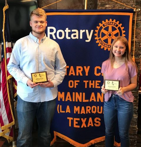 Hunter Farris & Alexis Nichols December 2018 Rotary Students of the Month