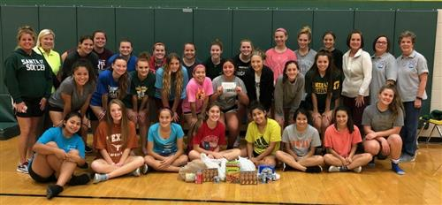 Santa Fe High School Soccer Teams Collect Donations for Backpack Buddy Program