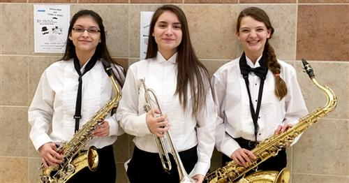 Santa Fe Junior High Band Students Earn Top Region Band During Recent Tryouts