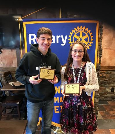 Congratulations Santa Fe High School Rotary Students of the Month for January 2019, Christopher Kurrass & Rachel Bejarno!