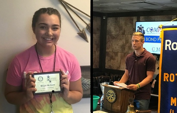Congratulations Santa Fe High School Rotary Students of the Month for October 2018- Megan McGuire and Austin Lamb