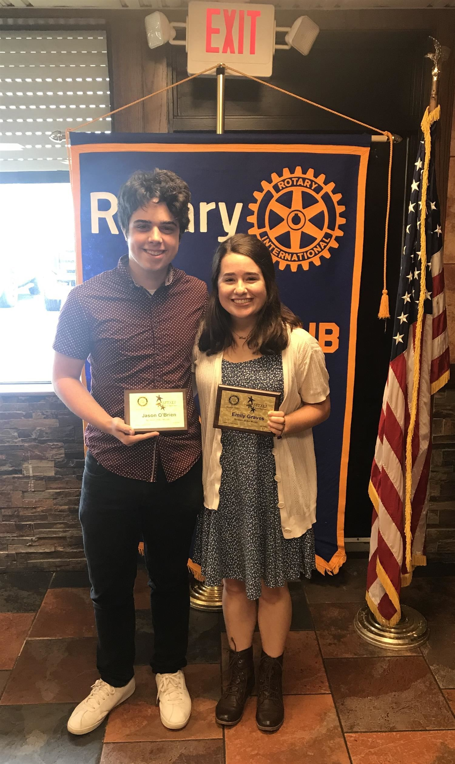 Santa Fe High School Rotary Students of the Month, November 2019