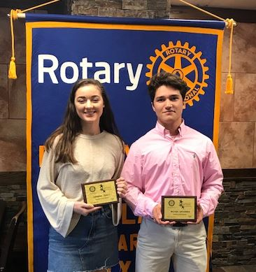 Santa Fe High School Rotary Students of the Month, January 2018