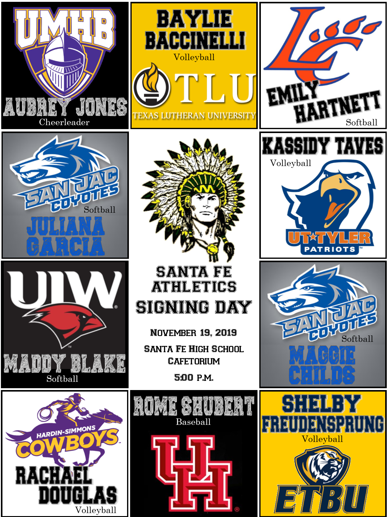 SFHS Signing Day Graphic
