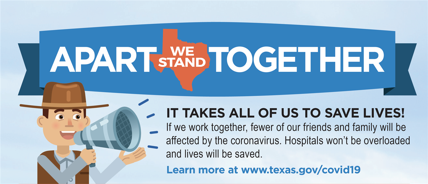 SFISD Joins COVID-19 Statewide Public Health Campaign. Click this link for add'l information.