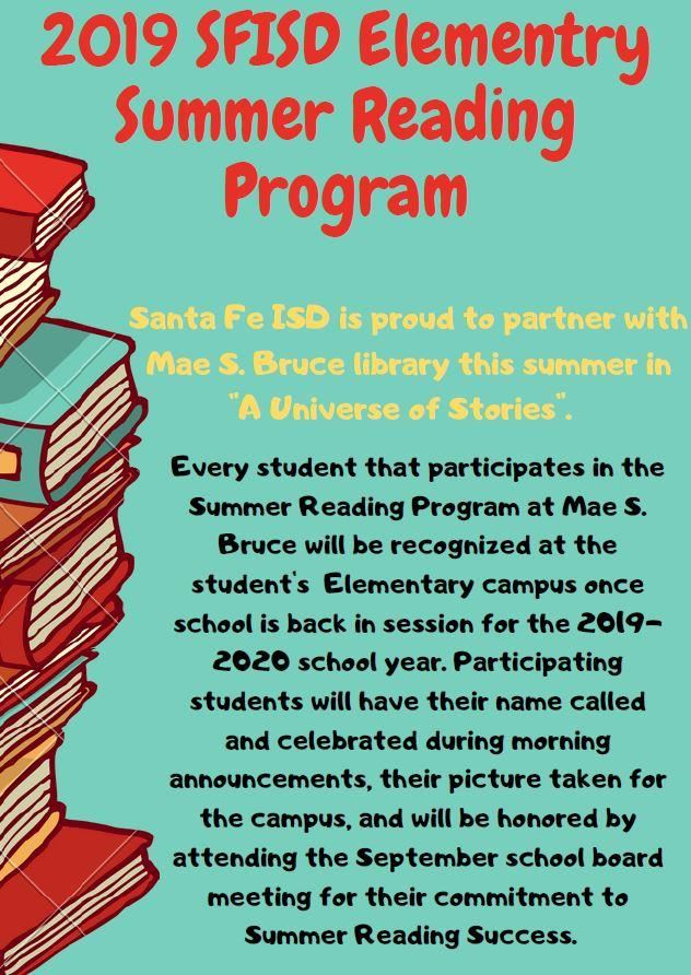 Summer Reading Program Flyer