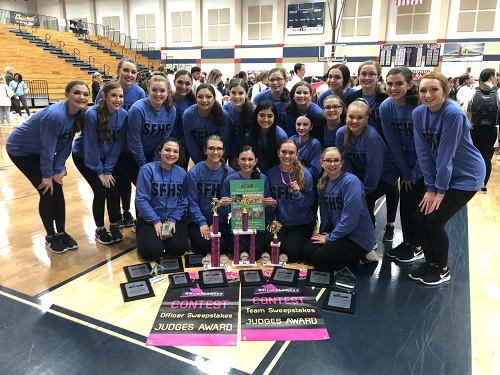 SFHS Tribal Belles Dance Team earns multiple awards at the Show Makers of America Dance Competition at Dawson High School in Pearland, TX on Saturday, February 8, 2020.